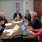 The Board meeting with Governor Laura