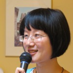 Lin Jun Fan speaking to Albany Rotary