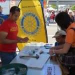 Rotary booth at the Solano Stroll